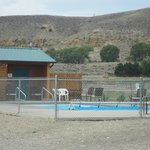 """Pool located beside """"tenting area"""""""