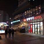 釜田站9號出口就是酒店門口