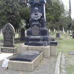 Paul Kruger's grave dominates the surround cemetery and is to find.