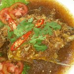 Fried Fish with Tamarind Sauce