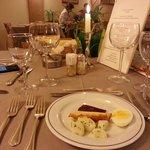 La tavola della cena: curatissima