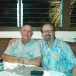 Bob and Peter, old friends sharing a great meal at 808 PG!!