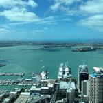 view from sky tower