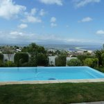 The infinity pool and view of Plett