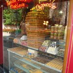 Turkish delight and sweets shop near of the hotel