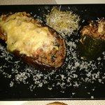 Berengena y calabacin rellenos con carne