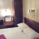 En suite room was clean with all working lights and heater