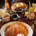 Too much breakfast.. but very good!