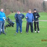 The happy golfers