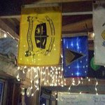Flags of the Caribbean island nations at Maximo Seafood Shack