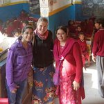 Two of the 8 classrooms with Rajan, her daughter and me