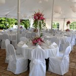 Wedding Event on Chateau Morrisette Courtyard