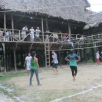 Lodge volleyball area