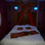 Chambre lumière bleue tamisée