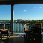 View from the breakfast dining room.