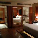 Executive Suite: bedroom view to bathroom