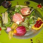 Salade de chèvre chaud et toasts