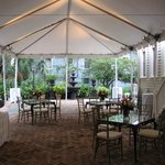 Tented Seated Event in Courtyard