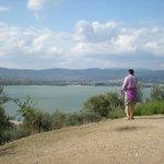 Il lago dall'isola Polvese