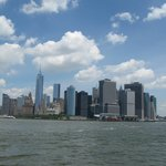 Great view,from the ground,of South Manhattan
