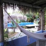 The view of the pool from our casita