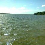 La laguna inquieta por el viento