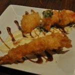 Tempura shrimp - minus a bite