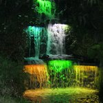 festival of lights waterfall