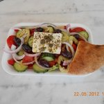 the famous Greek salad