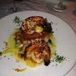Delicious prawn dinner