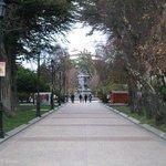 Plaza centro de la ciudad de punta arenas, plaza muñoz Gamero