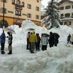 Январский снегопад в Кортине