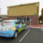 Manager's electric car outside eco-friendly Ukiah Super 8