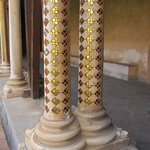 A lovely detail of the double-columns ornamentation in the cloisters of Monreale Cathedral