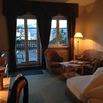 Unser Zimmer mit Tür zur Terrasse