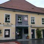 "Entrance of ""Restaurant Schicker"""