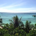 Panorama view of shared beach from room 325