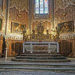 The high altar of the Church of Saint-Michel flanked by Crespi's paintings of the Seven Sacramen