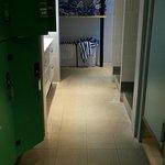 Espace détente casiers/serviettes/vestiaires