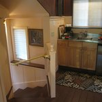 kitchenette and steps down to sunken bedroom