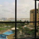 Double aspect view from room