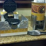 Waffle Station, available as a breakfast option every day