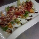 parmaham and melon salad to die for