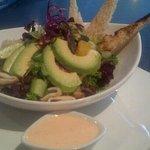 Cajun calamari salad