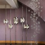 20 foot cascading chandelier in The Jewel Suite by Martin Katz