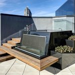 Elevated hot tub on private suite terrace