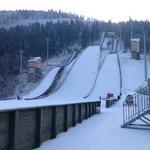 Local Ski Jump Beside Hotel