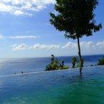 Vue magnifique sur le détroit de Lombok