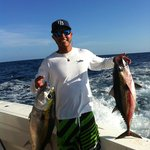 Couple of tunas with Far Out Charters