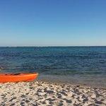 Jashita canoe on beach...